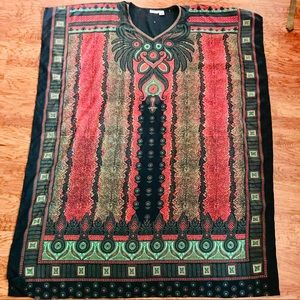 Sante Classics Black Long Dress Kaftan Cover Up